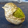 An Edward VII Silver Pin Cushion in form of a chick, Chester 1905