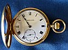 An 18ct Gold Turner & Sons Half Hunter Pocket Watch having white
