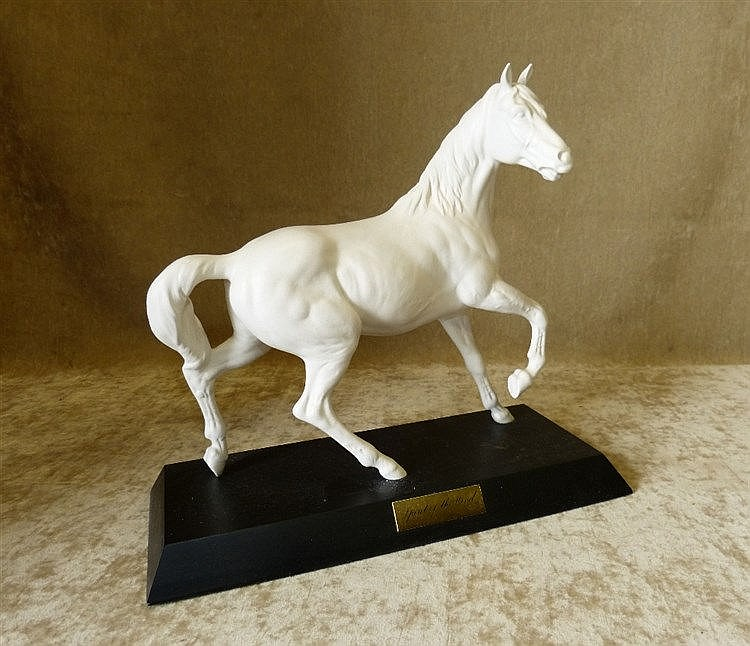 A Royal Doulton White China Figure of a Stallion