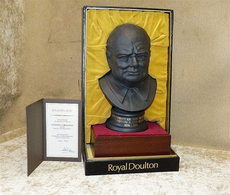 A Royal Doulton Limited Edition Basalt Bust