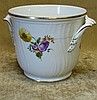 A Royal Copenhagen Round 2-Handled Trumpet Shape Jardiniere on wh