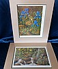Edwin Cripps Pair of Signed Limited Edition Coloured Prints
