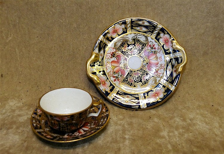 A Royal Crown Derby Miniature Imari Pattern Cup and Saucer, also