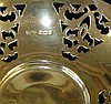 A Birmingham Silver Round Scalloped Sweetmeat Dish having pierced