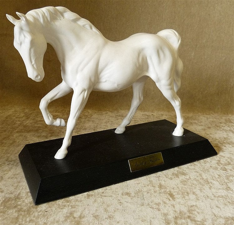 A Beswick White Figure of a Stallion