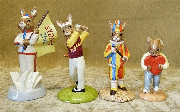 4 Royal Doulton Bunnykins Figures
