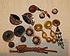 A Quantity of Various Costume Earrings etc, also a brooch in form