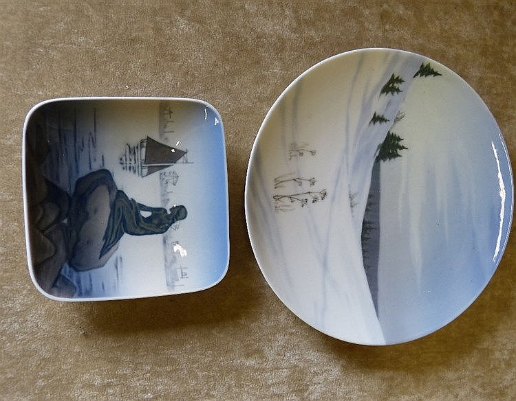 A Royal Copenhagen Plate depicting winter landscape Number 1135 a