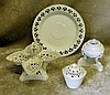Leeds Pottery Creamware 4-Sectioned Pierced Sweetmeat Dish having