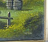 Gravburn Modern Oil on Canvas depicting lady outside thatched cot