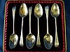 A Set of 6 18th Century George III Silver Teaspoons having engrav