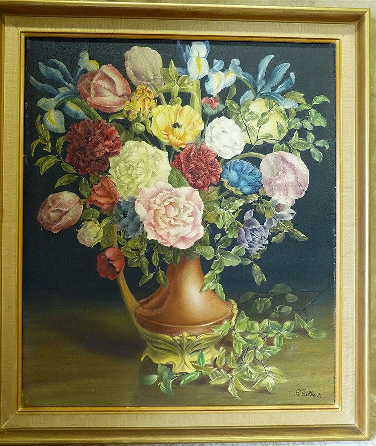 E Gilbert, Still Life Oil on Canvas