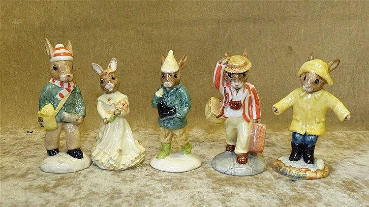 5 Royal Doulton Bunnykins Figures