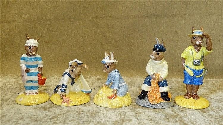 5 Royal Doulton Bunnykins Figures