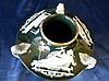 A Minton Style Pate-Sur-Pate Bulbous Thin Neck Squat Vase having