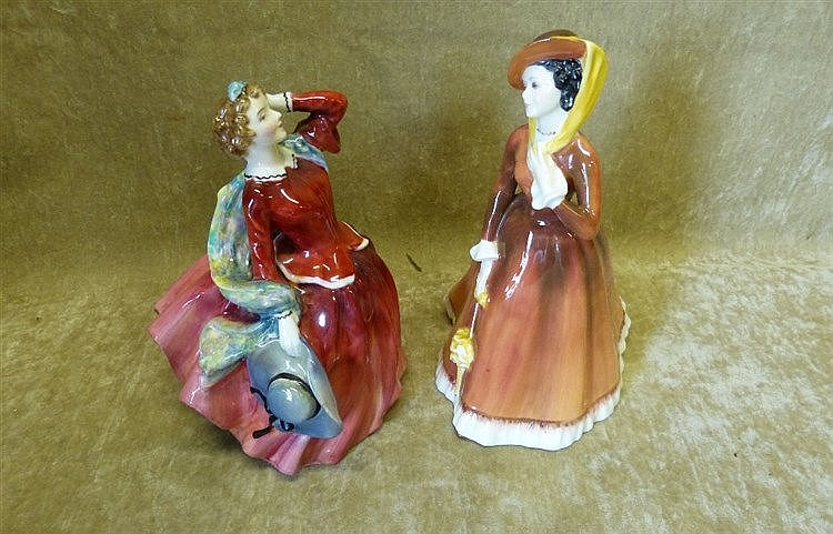 2 Royal Doulton Figurines, Blythe Morning HN2065 and Julia HN2705