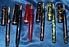 6 Various Fountain Pens, Parker Duofold, 2 Mentmore, 1 National S
