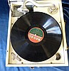 A Decca Gramophone having multicoloured nursery rhyme decoration,