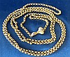 A Victorian 15ct Gold Guard Chain having clasp in form of a hand