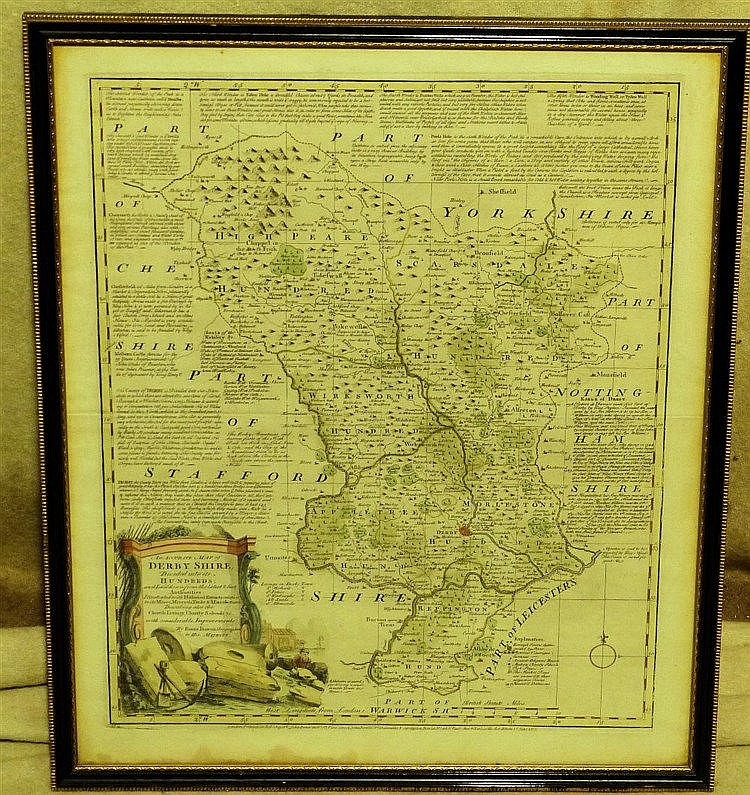 Eman Bowen 18th Century Hand Coloured Map