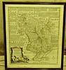 Eman Bowen 18th Century Hand Coloured Map