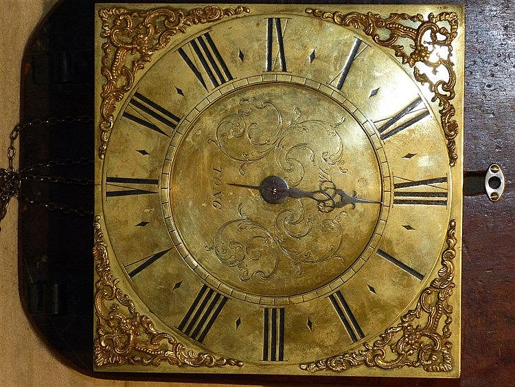 Tong, Striking Longcase Clock Movement (mounted to board, no case