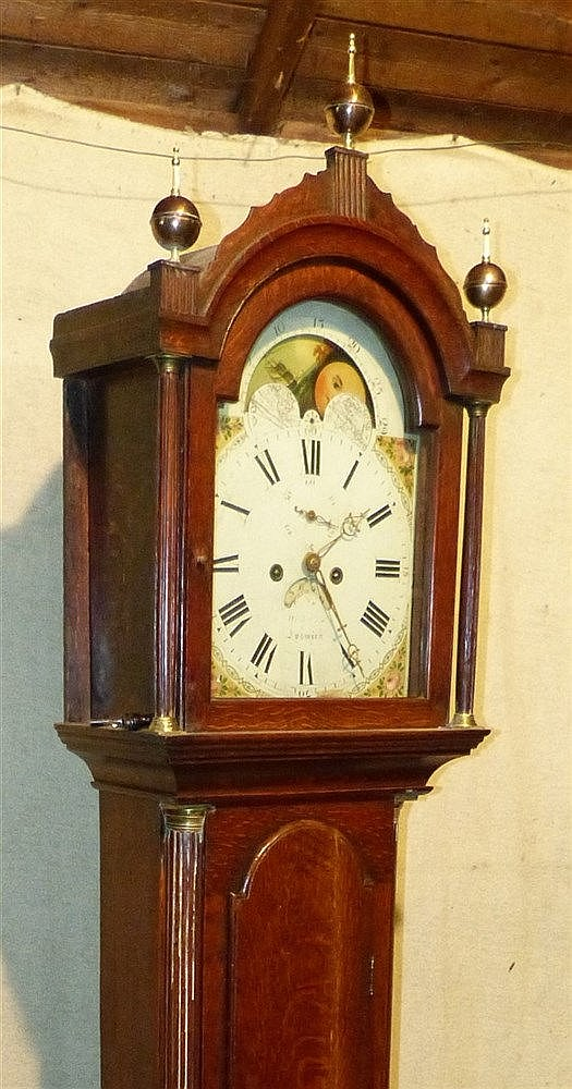 Richard Cole, Ipswich 19th Century Oak 8 Day Striking Longcase Cl