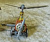 DRGM German Tin Clockwork Helicopter, 9cm long