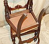 A Set of 6 19th Century Mahogany Open Back Single Chairs having c