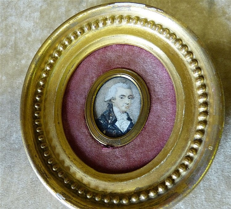 A 19th Century Oval Miniature Shoulder Length Portrait
