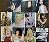 A Quantity of Various Unframed Autographed Photographs etc