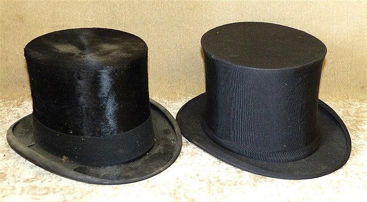 Dunlap & Co Silk Top Hat inner measurement 19.5cm, 16.5cm also a