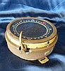A Navel Type P 4 Brass and Metal Ships Compass, 19cm diameter