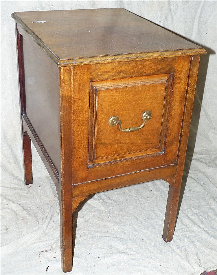 A 1930's Filing Cabinet having single drawer with brass drop hand