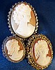 A Silver Mounted Oval Cameo Brooch shoulder length portrait of a