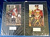 2 x Autographed Military Coloured Photographs