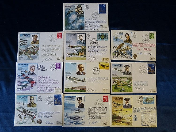 10 x First Edition Signed RAF Letters