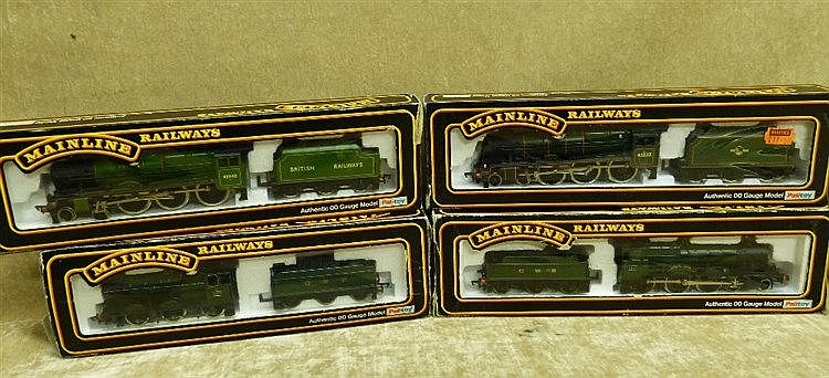 4 Mainline Locomotives with tenders 45532, 7819, 3205 & 45540 all