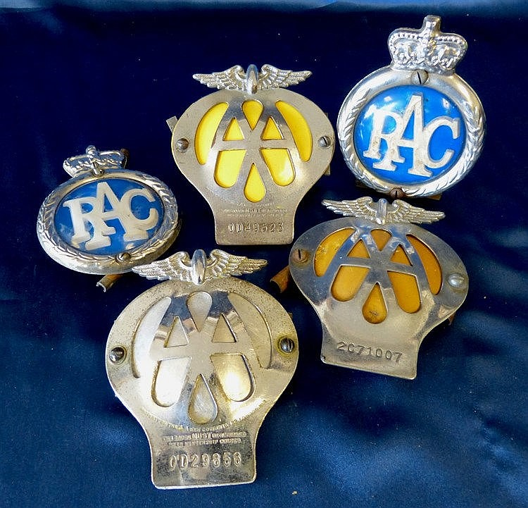5 Various AA & RAC Car Badges