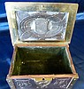 McVitie and Price Brass and Copper Arts and Crafts Style Casket h