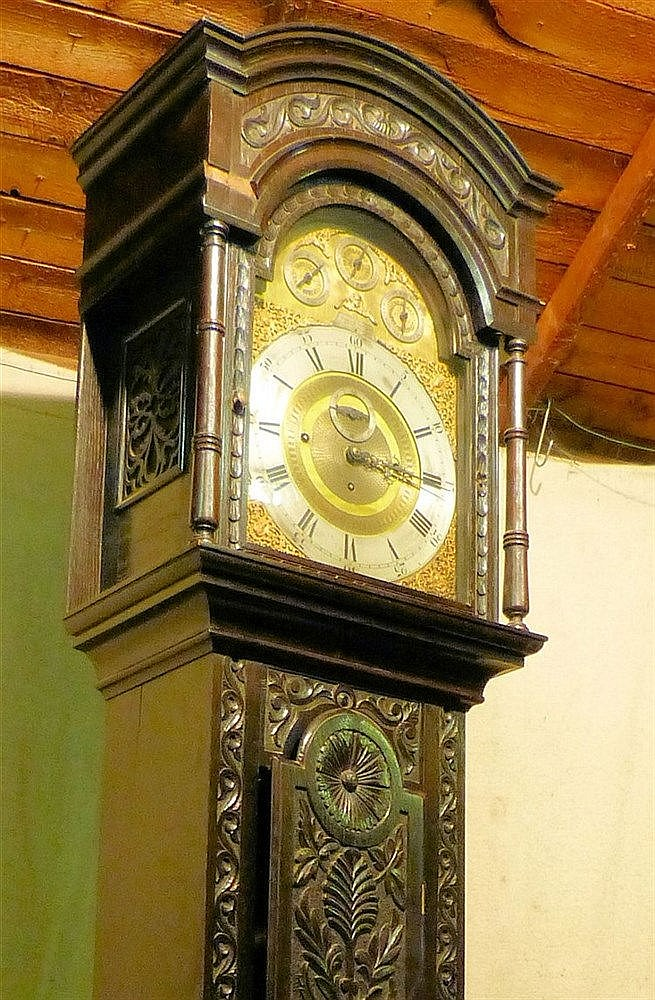 James.B Banks, Runcorn Large Carved Oak Westminster Chime on Bell
