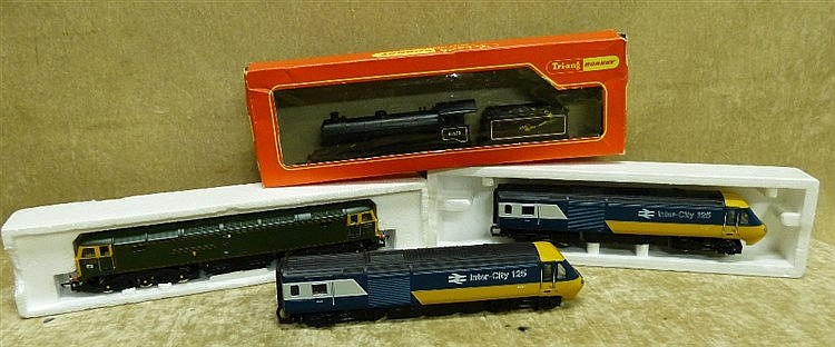 A Tri-ang Hornby Locomotive 61572 with tender boxed and 3 other H