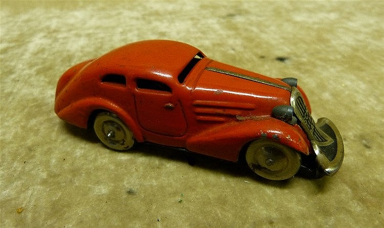 A Schuco Clockwork Brevete FRANCE SGDG Red Car