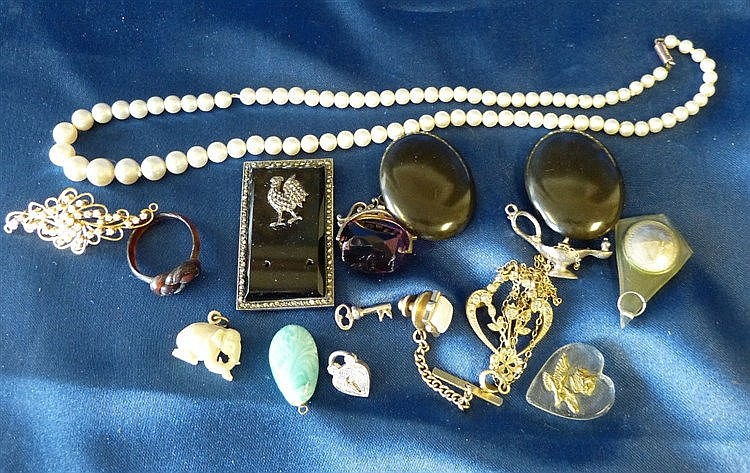 A Tortoiseshell Ring and a small quantity of various other jewell