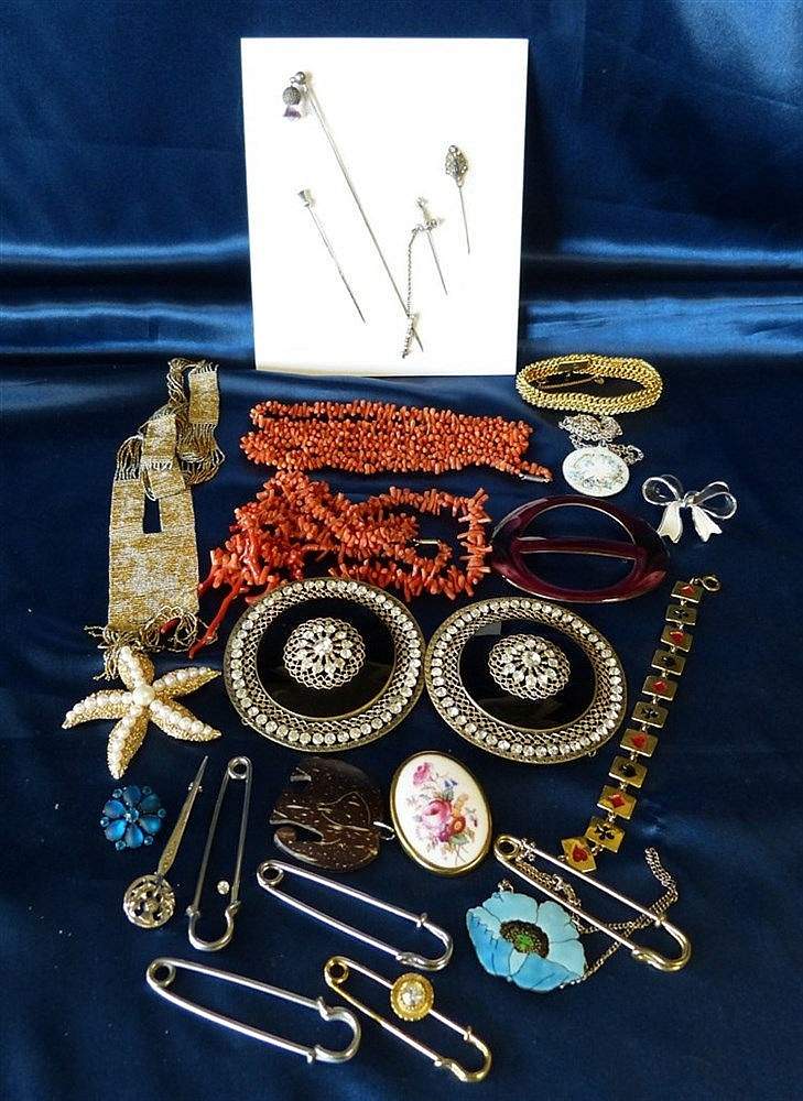 A  1920's Sash Necklace and a quantity of various of costume and