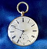 A 14ct Gold Open Faced Pocket Watch having white enamel dial with
