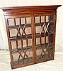 A 19th Century Mahogany Low Bookcase (no base) having 2 astragal