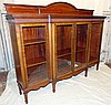 A Good Quality Early 20th Century Mahogany Breakfront Low Bookcas