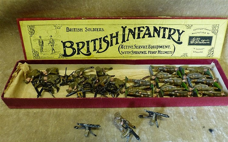 A Quantity of Britians British Infantry with box