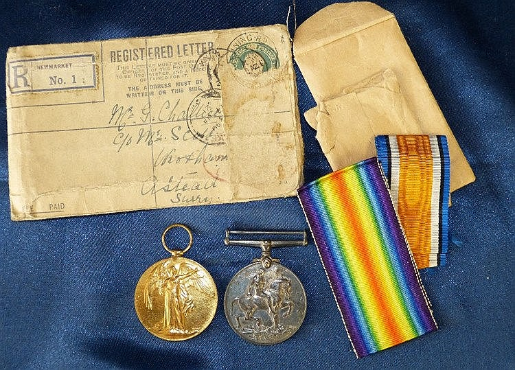 2 WWI Medals, 1914/18 Medal and War Medal, 416670 pte.G.C.Challic